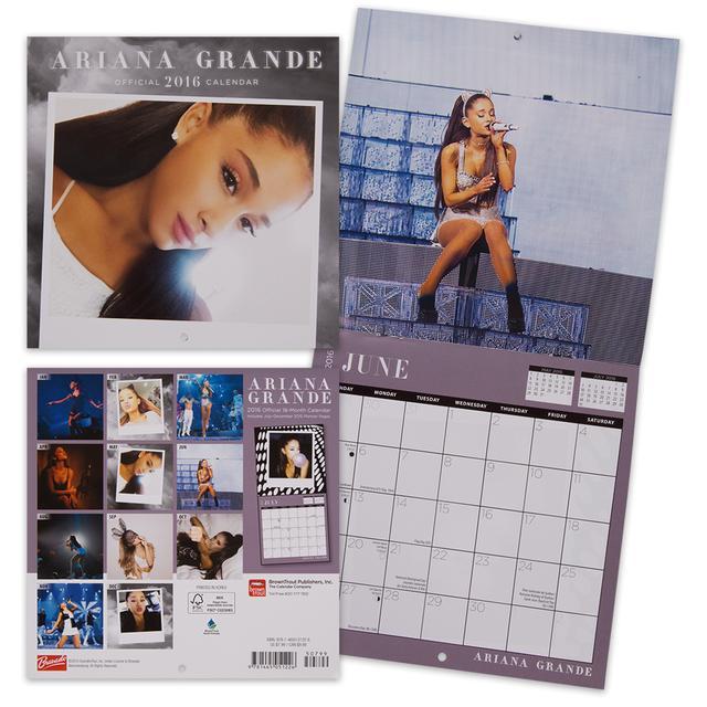 """Ariana Grande 2016 7""""x7"""" Mini Calendar"""
