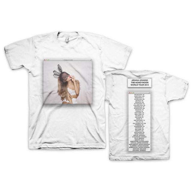 Ariana Grande Honeymoon World Tour Bunny Window Dateback T-Shirt