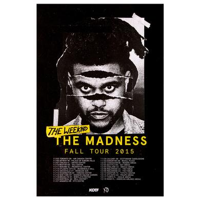 The Weeknd THE MADNESS FALL TOUR 16x24 LITHOGRAPH