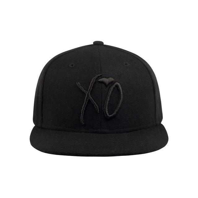 The Weeknd XO CLASSIC LOGO ALL BLACK WOOL SIERGE STRAPBACK