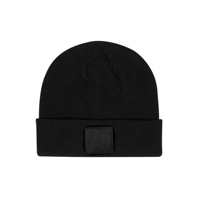 The Weeknd XO CLASSIC LOGO LEATHER PATCH BEANIE