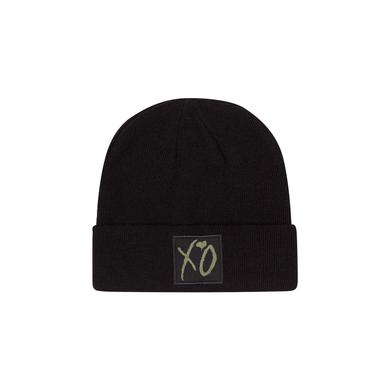 The Weeknd XO CLASSIC LOGO WINTER BEANIE BLACK/HUNTER GREEN