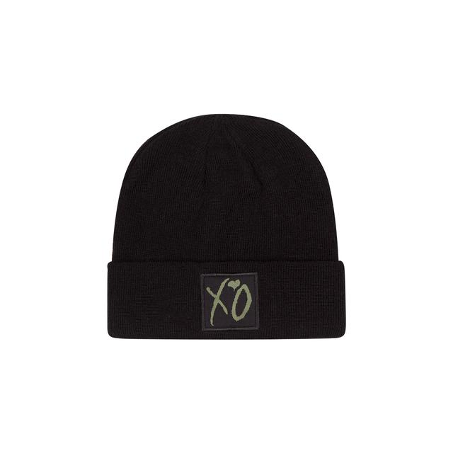 The Weeknd XO CLASSIC LOGO WINTER BEANIE BLACK/HUNTER GREEN
