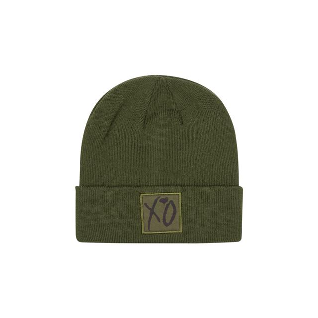 The Weeknd XO CLASSIC LOGO WINTER BEANIE HUNTER GREEN/BLACK