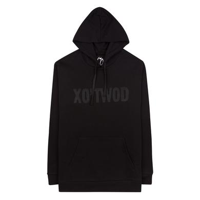 """The Weeknd """"XO'TWOD"""" BLACK / HUNTER GREEN CUT AND SEW UNISEX PULLOVER HOODIE"""