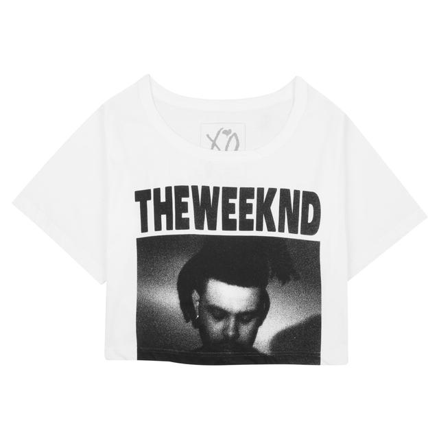 THE WEEKND PHOTO PRINT CROP TEE