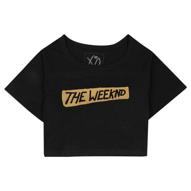 "THE WEEKND ""BEAUTY BEHIND THE MADNESS"" LOGO CROP TEE"