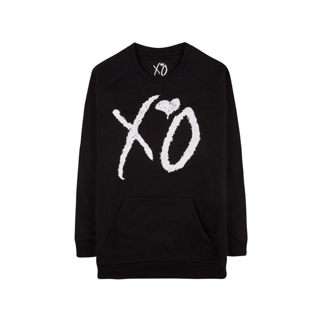 The Weeknd XO CLASSIC LOGO CUT AND SEW UNISEX RAGLAN SLEEVE CREWNECK SWEATER