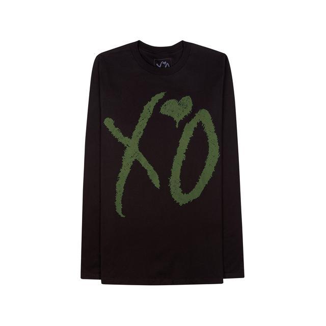 "The Weeknd XO ""CLASSIC LOGO"" BLACK / HUNTER GREEN LONG SLEEVE UNISEX TEE"