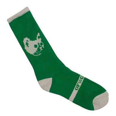 Odd Future OFWGKTA CAT SOCKS GREEN