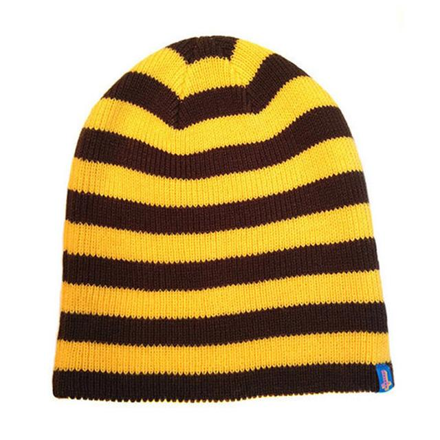 Odd Future SYD FEEL GOOD STRIPED BEANIE YELLOW/BROWN