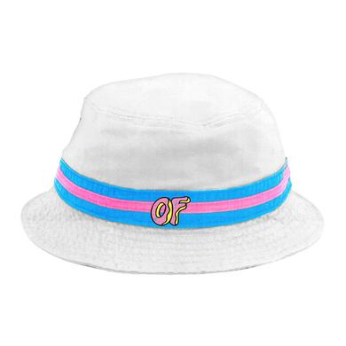 Odd Future OF LOGO WHITE BUCKET HAT