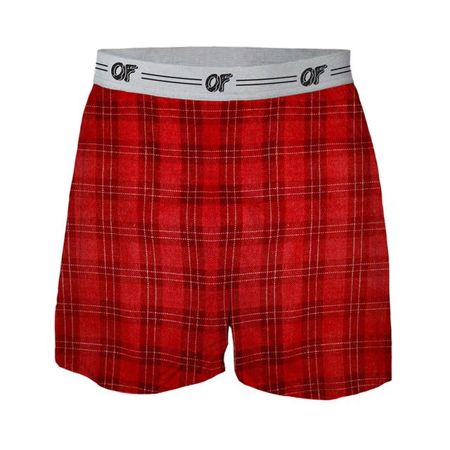 Odd Future OF LOGO PLAID BOXERS