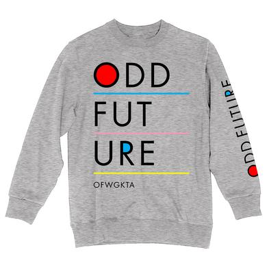ODD FUTURE LINE CREW FLEECE SWEATSHIRT
