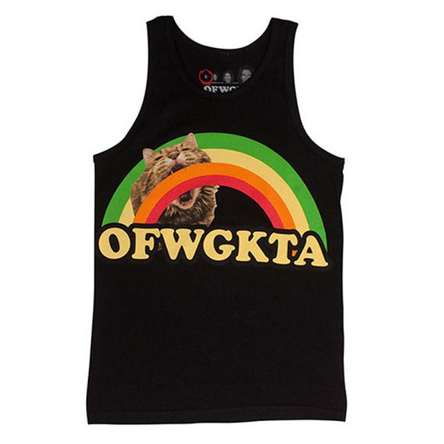 Odd Future GIRLS RAINBOW CAT TANK BLACK