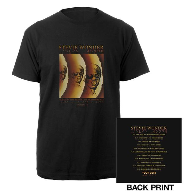 Stevie Wonder Official Songs In The Key Of Life Tour Tee
