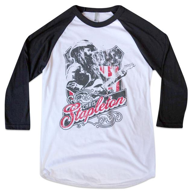 Chris Stapleton Illustrated Baseball Raglan