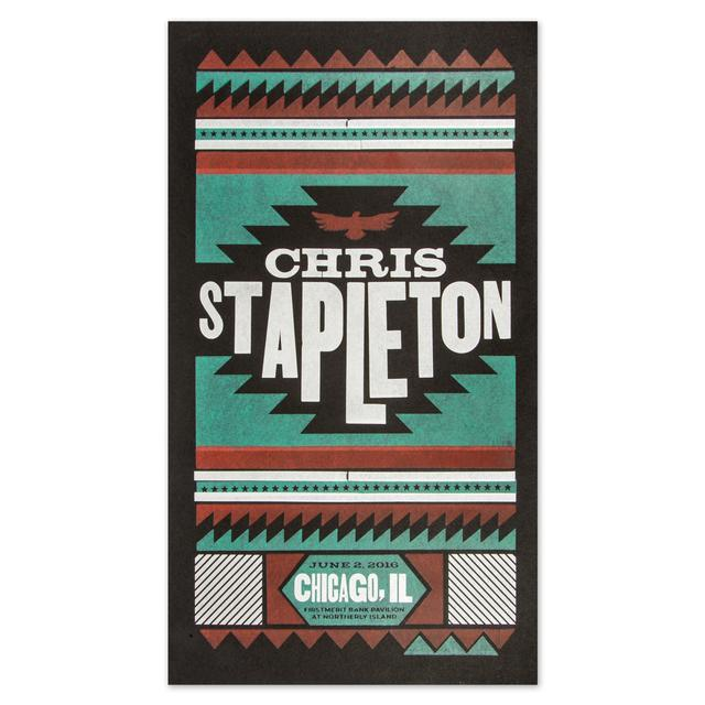 Chris Stapleton Show Poster - Chicago, IL 6/2/16