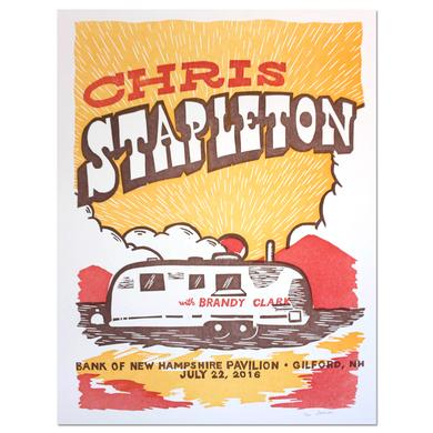 Chris Stapleton Show Poster - Gilford, NH 7/22/16