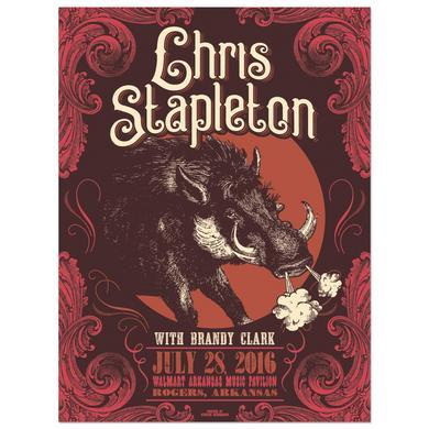 Chris Stapleton Show Poster - Rogers, AR 7/28/16