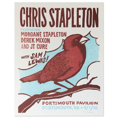 Chris Stapleton Show Poster – Portsmouth, VA 9/1/16