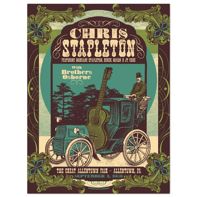 Chris Stapleton Show Poster – Allentown, PA 9/2/16