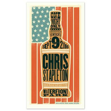 Chris Stapleton Show Poster – Louisville, KY 9/9/16
