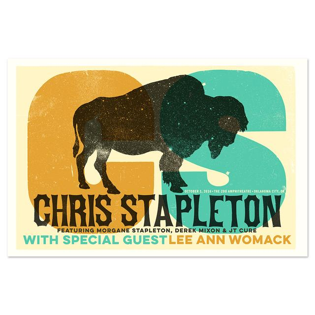Chris Stapleton Show Poster – Oklahoma City, OK 10/1/16