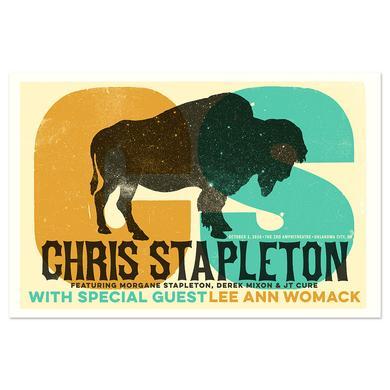Chris Stapleton Show Poster – Oklahoma City, OK 10/1/16