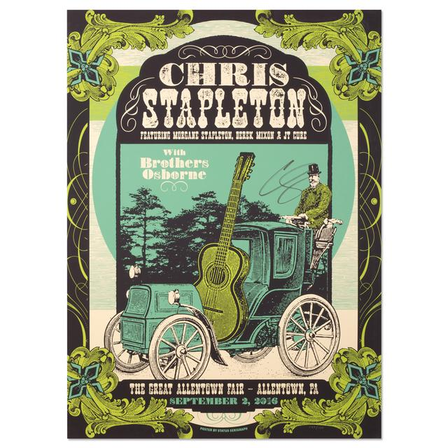 Chris Stapleton Signed Show Poster – Allentown, PA 9/2/16