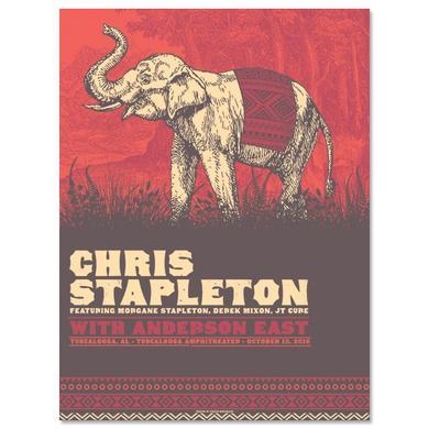 Chris Stapleton Show Poster – Tuscaloosa, AL 10/13/16
