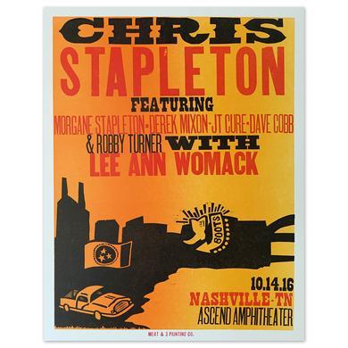 Chris Stapleton Show Poster – Nashville, TN 10/14/16 First of Two