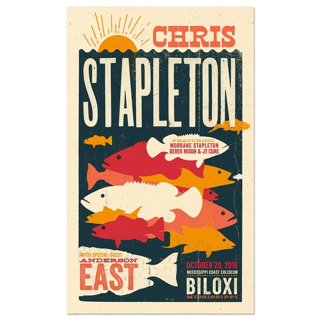 Chris Stapleton Show Poster – Biloxi, MS 10/20/16