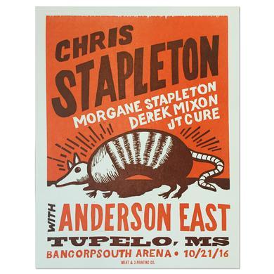 Chris Stapleton Show Poster – Tupelo, MS 10/21/16
