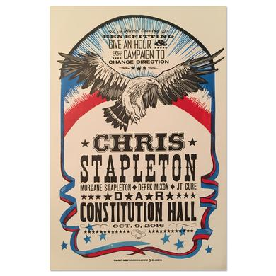 Chris Stapleton Washington DC DAR Constitution Hall Benefit Poster – 10/9/16