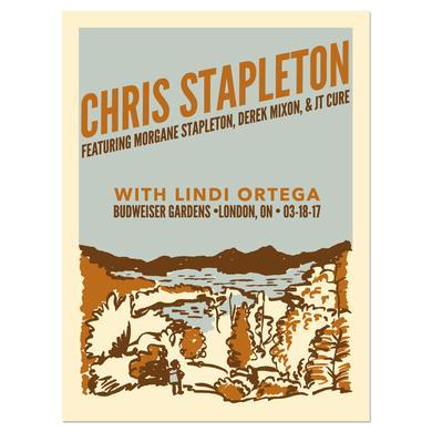 Chris Stapleton Show Poster – London, Ontario 3/18/17