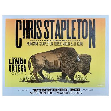 Chris Stapleton Show Poster – Winnipeg, Manitoba 3/22/17