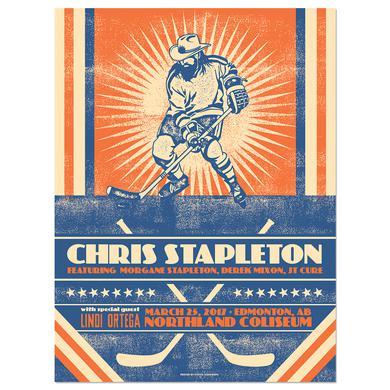 Chris Stapleton Show Poster – Edmonton, Alberta 3/25/17