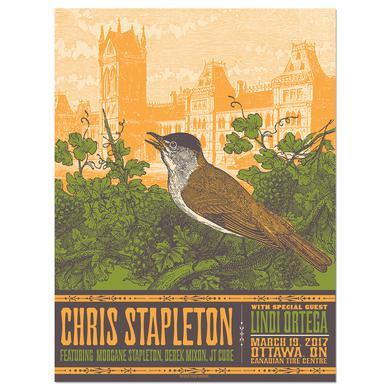 Chris Stapleton Show Poster – Ottawa, Ontario 3/19/17