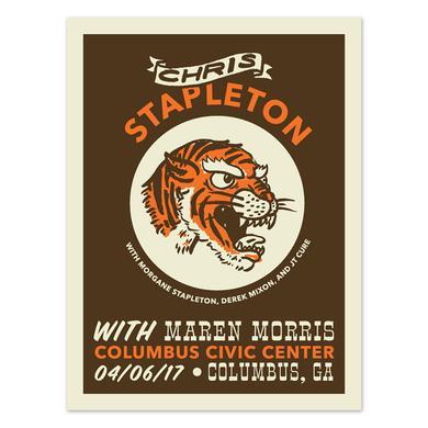 Chris Stapleton Show Poster – Columbus, GA 4/6/17