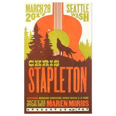 Chris Stapleton Show Poster - Seattle, WA 3/28/17