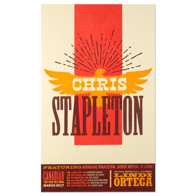 Chris Stapleton March 2017 Canadian Tour Poster