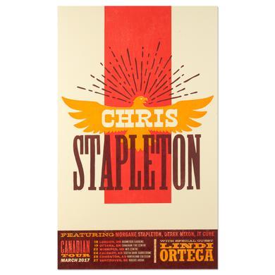 Chris Stapleton March 2017 Canadian Tour Poster
