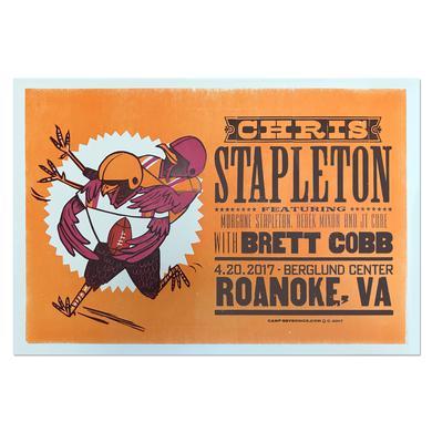 Chris Stapleton Show Poster – Roanoke, Virginia 4/20/17