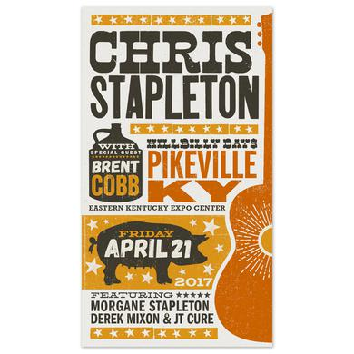 Chris Stapleton Show Poster – Pikeville, KY 4/21/17 First of Two