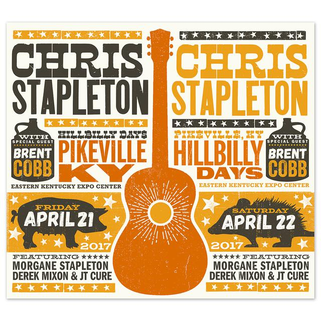 chris stapleton show poster pikeville ky 4 22 17 second of two