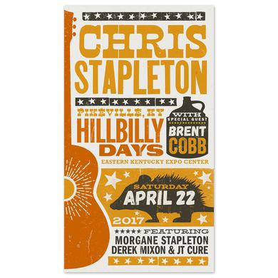 Chris Stapleton Show Poster – Pikeville, KY 4/22/17 Second of Two