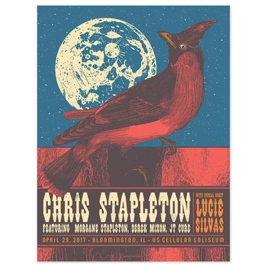 Chris Stapleton Show Poster – Bloomington, IL 4/29/17