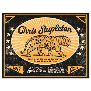 Chris Stapleton Show Poster – Columbia, MO 4/27/17