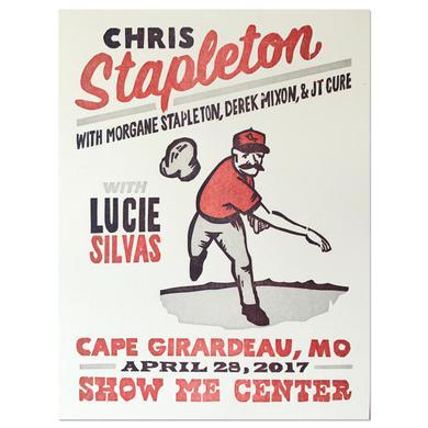 Chris Stapleton Show Poster – Cape Girardeau, MO 4/28/17